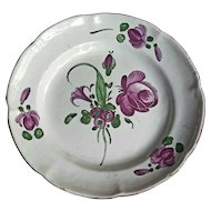 "18th C. French Faience ""de l'Est"" Dish"