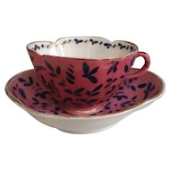 Beautiful Quatrefoil Porcelain Cup and Saucer