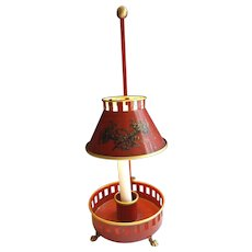 Most Wonderful Vintage Red Tole Lamp