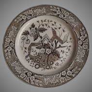 Antique Wedgwood Aesthetic Ware Plate Beatrice Pattern, circa 1880