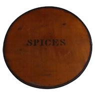 Hard to Find Antique Bentwood and Metal Spice Box
