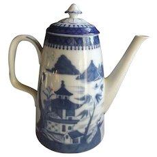 Mottahedeh Vista Alegre Blue Canton Coffeepot...Like New