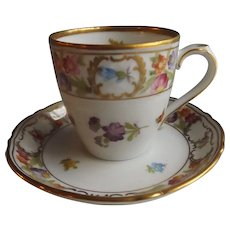 Schumann Empress Dresden Flowers Demitasse Cup and Saucer