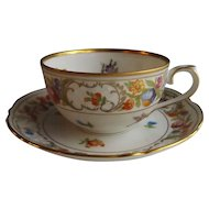 Schumann Empress Dresden Flowers Coffee Cup and Saucer