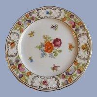"""Schumann Empress Dresden Flowers 10.75"""" Large Serving or Dinner Plate"""