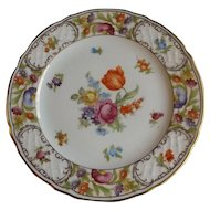 "Schumann Empress Dresden Flowers 12"" Large Serving or Chop Plate"