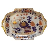 Early 19th C. Antique English Mason's Ironstone Dish with Imari Pallette