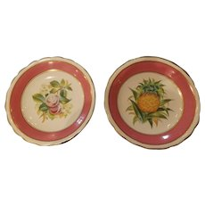 Pair of Early 19th C. English Porcelain Footed Dessert Dishes
