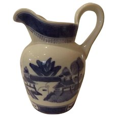 Blue and White Canton Pattern Water Pitcher
