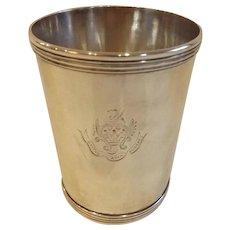 Marked E.C. Garner Coin Silver Mint Julep Cup...Circa 1838-1842, Lexington, Kentucky