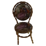 Sweet Estate Miniature Vienna Enamel and Metal Chair