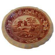 Copeland Spode's Tower Red Butter Pat