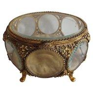 Vintage Stylebuilt Accessories Filigree Jewelry Casket