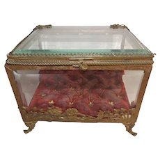 Large 19th Century Jewelry Casket with Ornate Frame