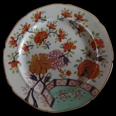 Hard to Find Antique English Mason's Ironstone Dinner Plate Gold Rose Pattern