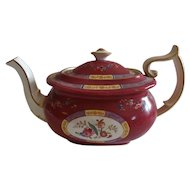 19th Century Spode Copeland's English Teapot Sold by Tiffany