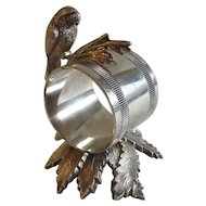 Mid 19th Century Toronto Silver Plate Figural Napkin Ring with Bald Eagle