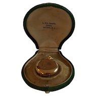 Antique 14K Gold Ladies' Pocket Watch with Diamonds