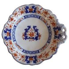 Antique 19th C. English Minton New Stone Imari Palette Dessert Dish