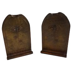 Pair of Roycroft Copper Bookends