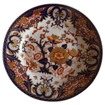 Antique English Derby Plate c.1806-1825