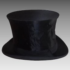 Antique French Collapsible Top Hat from Cherbourg