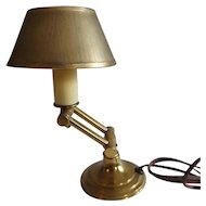 Sweet Little Vintage Brass Swing Arm Desk Lamp