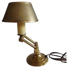 Sweet Little Vintage Brass Swing Arm Desk Lamp
