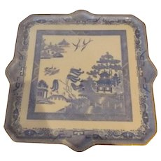 19th Century Blue Willow Porcelain Tray