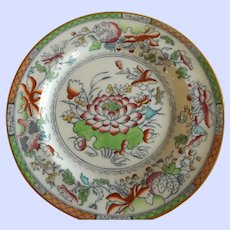 Antique Mason's Ironstone Water Lily Dinner Plate