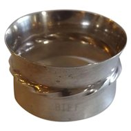 """Towle Sterling Silver Napkin Ring with Monogram """"Biff"""""""