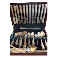 99 Piece Set of Wm. A. Rogers Silver Plate Heraldic Pattern 1916