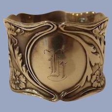 Antique Gorham Sterling Silver Napkin Ring Marguerite Pattern
