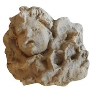 Exquisite Architectural Garden Putti Fragment
