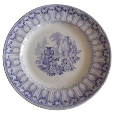 19th Century English Joseph Clementson Ironstone Plate
