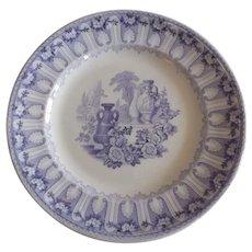 19th Century English Davenport Ironstone Plate