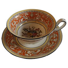 Wedgwood Florentine Coral Cup and Saucer