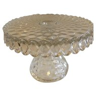Fostoria American Cake Pedestal Stand with Rum Well