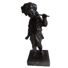 Vintage Bronze of Putti on Marble Base