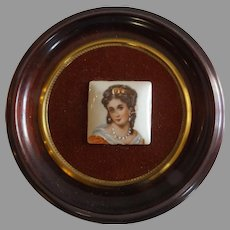 French Limoges Miniature Mounted and Framed