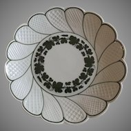 Meissen Plate in the Green Ivy Pattern