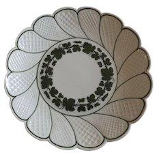 Meissen Plate in the Green Ivy Pattern