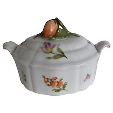Nymphenburg Covered Dish with Fruit Handle