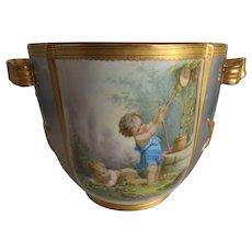 Most Exquisite Antique English Porcelain Wine Cooler...Unbelievable