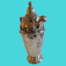 Marked Sterling Silver Cocktail Shaker with Ship Decoration