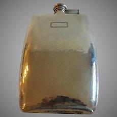 International Sterling Silver Hammered Flask