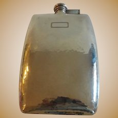 International Sterling Silver Hammered Flask
