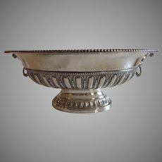 Italian Sterling Silver Bowl with Mask Handles