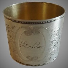 "Watrous American Sterling Silver Napkin Ring ""Stella"""