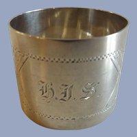 Boston Sterling Silver Napkin Ring N.G. Wood & Sons